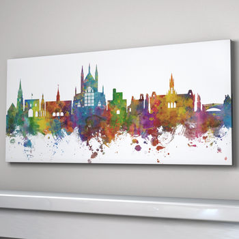 Winchester Skyline Panoramic Box Canvas