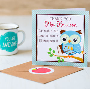 Thank You Teacher Card - teacher cards