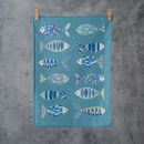Patterned Fish Tea Towel