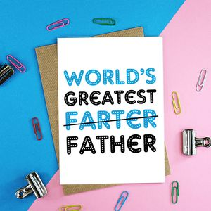 Worlds Greatest Father Card