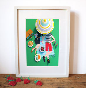 Paper Picnic In The Park Print