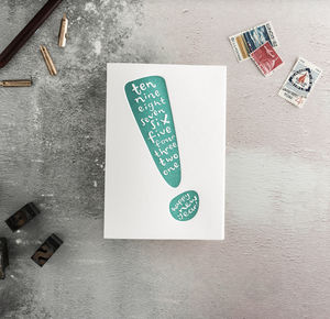 Happy New Year Countdown Letterpress Card - new year cards