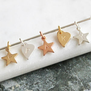 Add A Hand Stamped Star Or Heart To Your Order