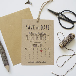 Calendar Save The Date Cards - invitations