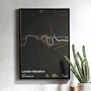 Personalised London Marathon Map Print - best father's day gifts