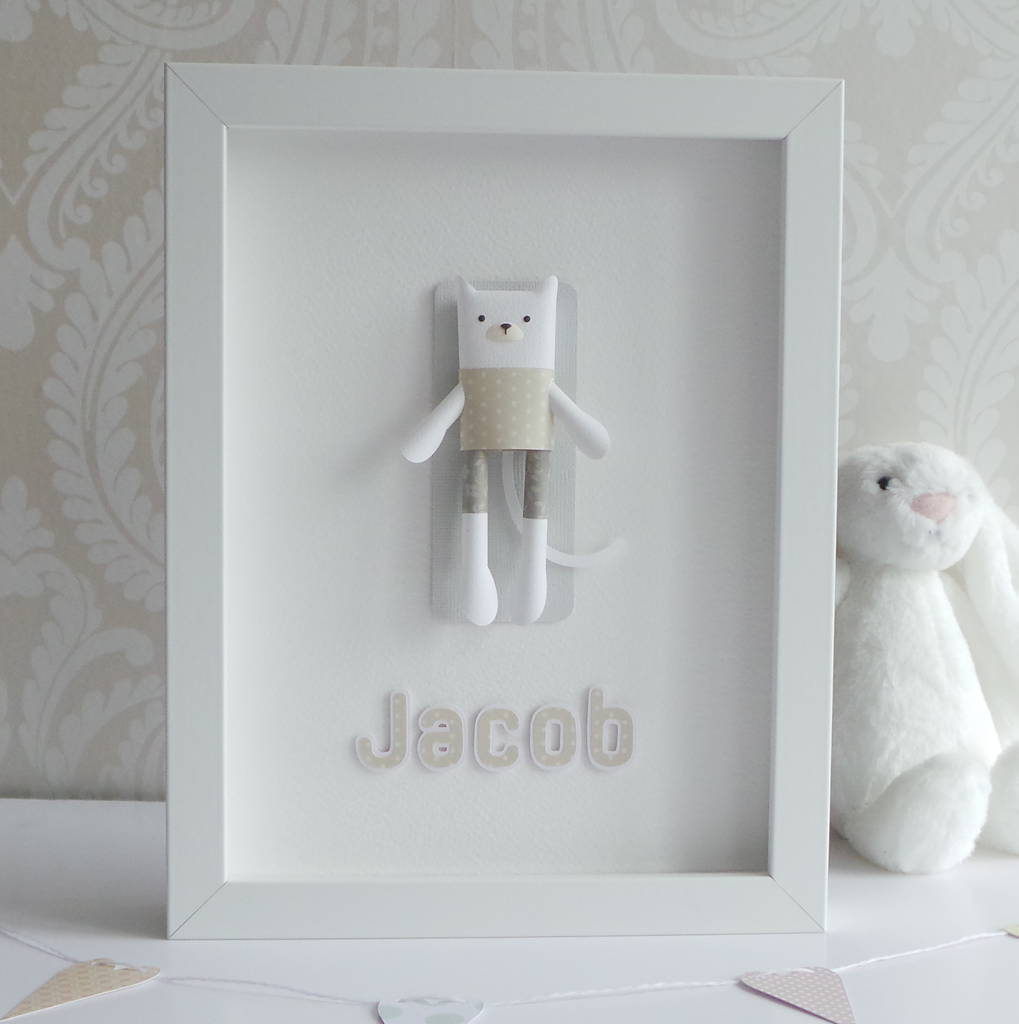 Personalised Framed 3D Paper Cat