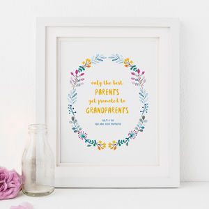 Personalised Grandparents Print - posters & prints