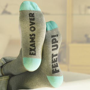 Personalised Graduation Lucky Socks