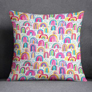 Rainbow Print Watercolour Cushion Laura Munoz