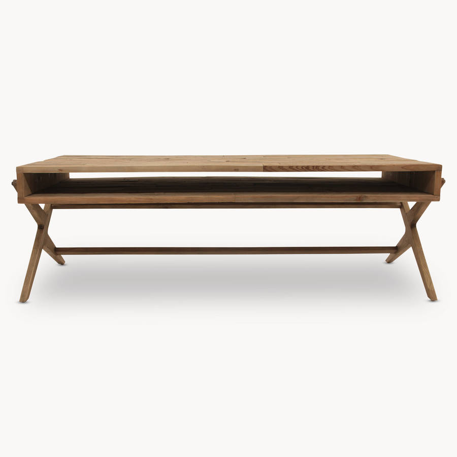 Woodcroft bleached pine coffee table by one world trading for Pine coffee table