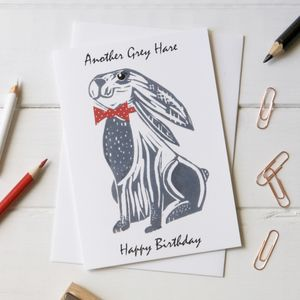 Funny Happy Birthday Hare Card