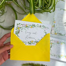 Spring Awakening Concertina Wedding Invite