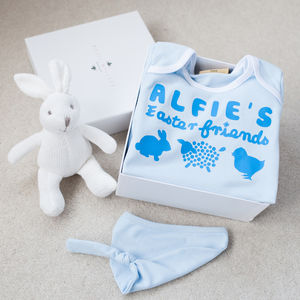 Personalised Easter Friends Babygrow Gift Set - easter outfits
