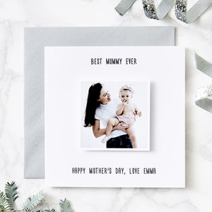 Personalised Photo Card - mother's day cards