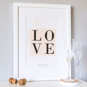 Personalised Wedding Print - summer sale