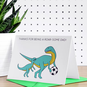 Thanks For Being A Roar Some Dad Father's Day Card