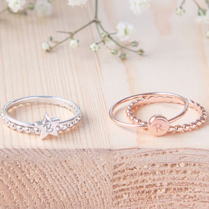 Personalised Duo Initial Ring - rings