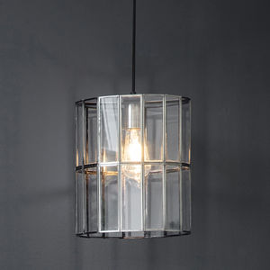 Glass Panel Pendant Light