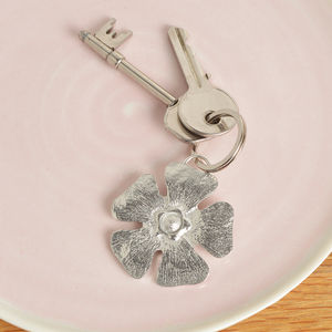Forget Me Not Pewter Key Ring