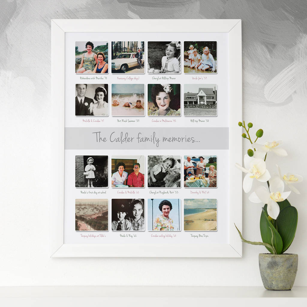 personalised past memories photo collage by cherry pete ...