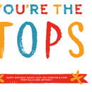 'Pops You're The Tops' Personalised Print