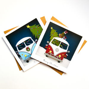 Campervan Christmas Cards Pack Of Six