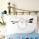 Personalised arrow headcase pillowcases