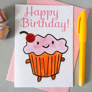 'Happy Birthday' Cupcake Card