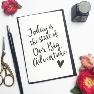 'Our Big Adventure' Wedding Card - wedding cards & wrap