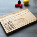 Personalised 5th Anniversary Serving Board