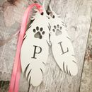 Personalised Pet Lrg White Feather Memorial