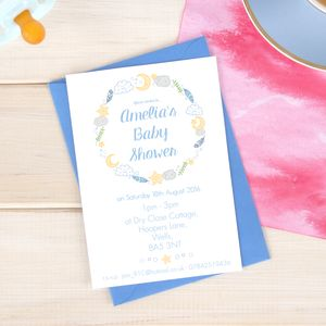 Personalised Baby Shower Invitation Pack - invitations