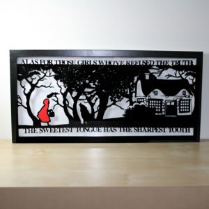 Red Riding Hood's Folly Papercut - nature & landscape