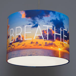Breathe Yoga Inspired Drum Lampshade