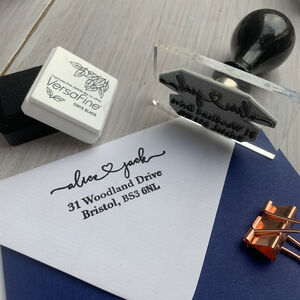 Love Heart Address Stamp