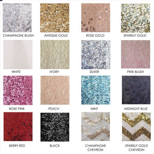 Sequin Sample Swatches - table runners