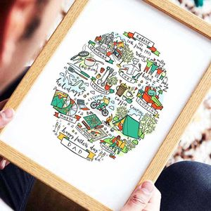 Personalised 'This Is Dad' Illustration Print