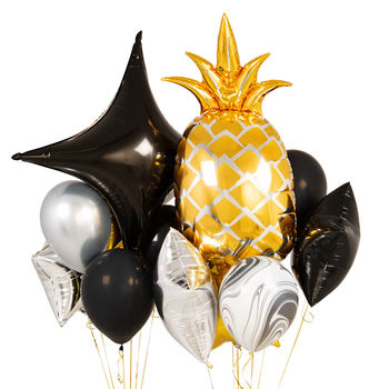 Glitz And Glam Pineapple Crazy Balloon Bunch