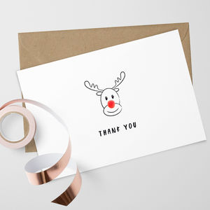 Pack Of 10 Christmas Thank You Cards - cards
