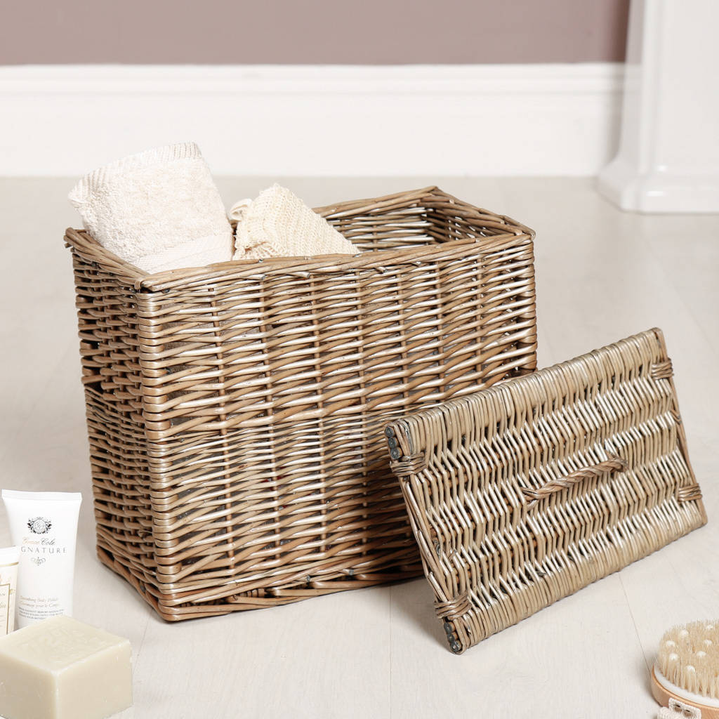 Hand Woven Wicker Laundry Hamper With Lid By Dibor Notonthehighstreet Com