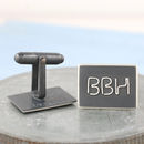 Black Personalised Cufflinks