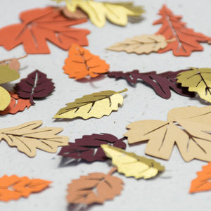 Autumn Leaves Table Confetti - confetti, petals & sparklers