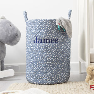 Personalised Tall Blue Star Storage Bag