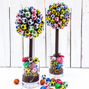 Personalised Football Sweet Tree - chocolates & confectionery