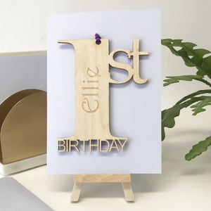 Personalised 1st Birthday Card