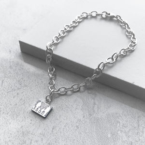 Personalised Sterling Silver Family Bracelet