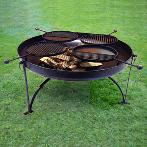 Plain Jane 120cms With Four Swing Arm Bbq Racks - fire pits & outdoor heating