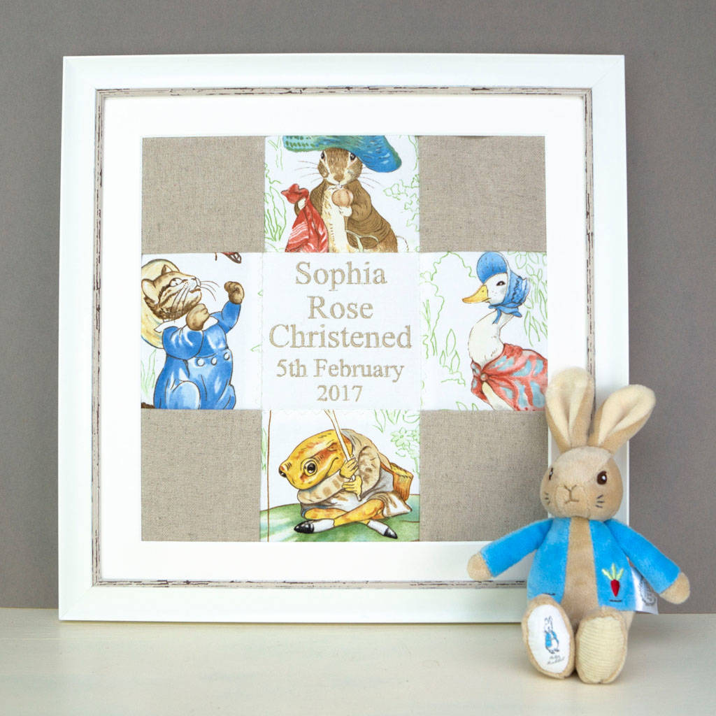 Beatrix Potter Personalised Name And Date Picture