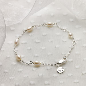 Silver And Pearl Bridesmaids Bracelet