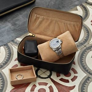 Luxury Leather Watch And Accessories Box For Him